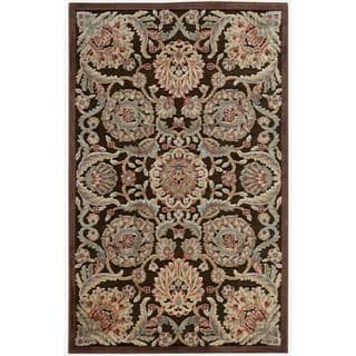Nourison Graphic Illusions Medallion Chocolate Multi Rug (2'3 x 3'9)