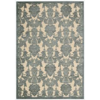 Nourison Graphic Illusions Damask Teal Rug (2'3 x 3'9)