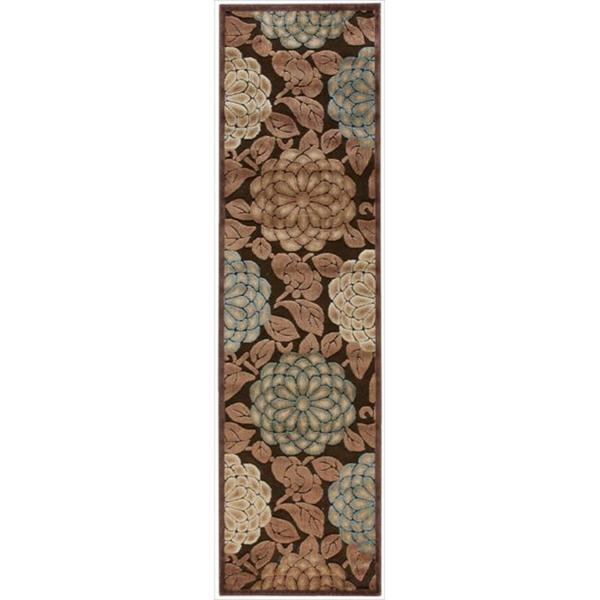 Nourison Graphic Illusions Floral Pastel Multi Color Rug (2'3 x 8')