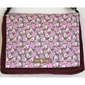 Handmade Purple Medium Birds In A Forest Messenger Bag