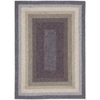 Nourison Hand-woven Craftworks Braided Violet Multi Rug (5' x 7')