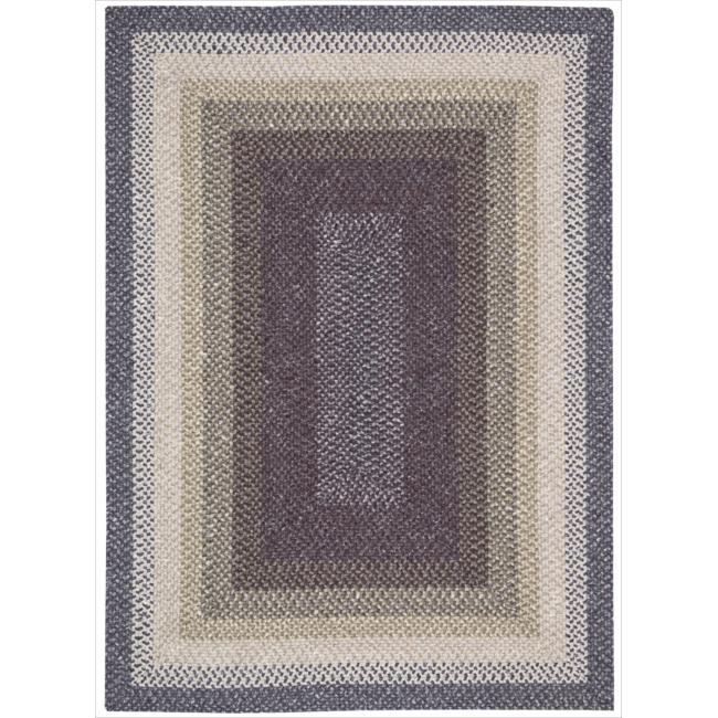 Nourison Hand-woven Craftworks Braided Violet Multi Rug (7'6 x 9'6)