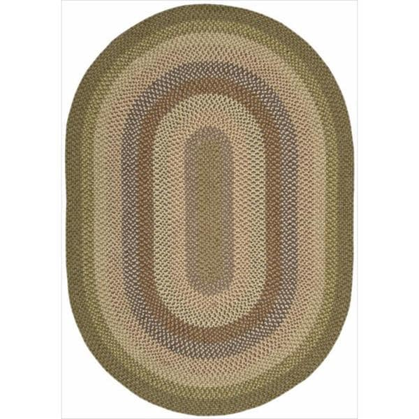 Nourison Hand-woven Craftworks Braided Autumm Multi Rug (5' x 7') Oval