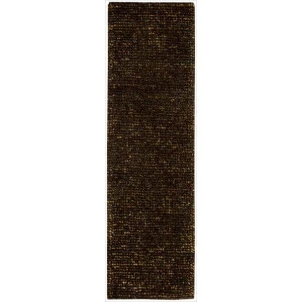 Nourison Hand-tufted Fantasia Textured Chocolate Rug (2'3 x 8')