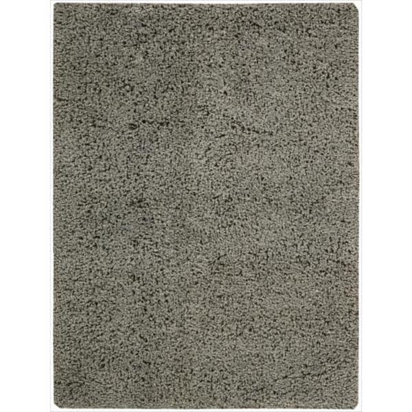 Nourison Hand-woven Shag Zen Slate Rug (7'6 x 9'6)