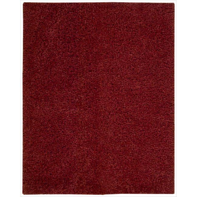 Nourison Nourison Hand-woven Shag Zen Red Rug (7'6 x 9'6)