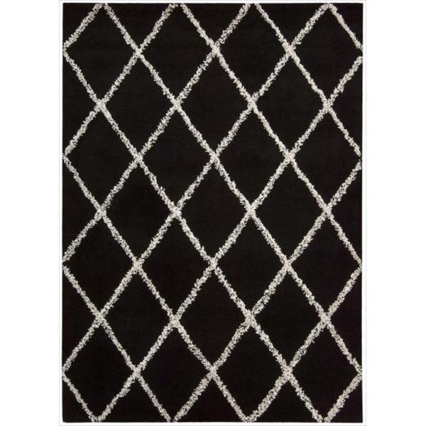 Nourison Joseph Abboud Hand Tufted Monterey Outlined Black White