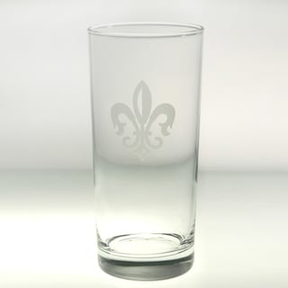 Rolf Glass Grand Fleur De Lis Cooler 15 ounce (Set of 4)