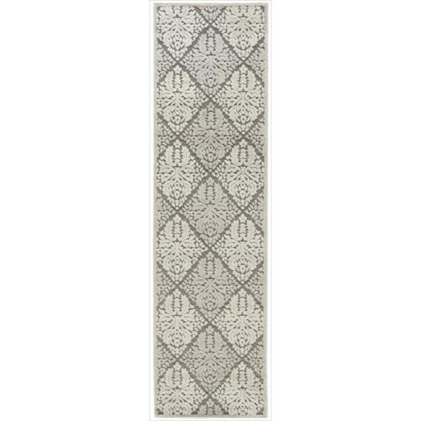 Nourison Graphic Illusions Ivory Diamond Pattern Rug (2'3 x 8')