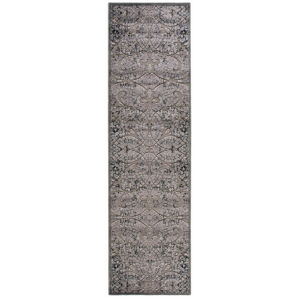 Nourison Graphic Illusions Moasic Grey Rug (2'3 x 8')