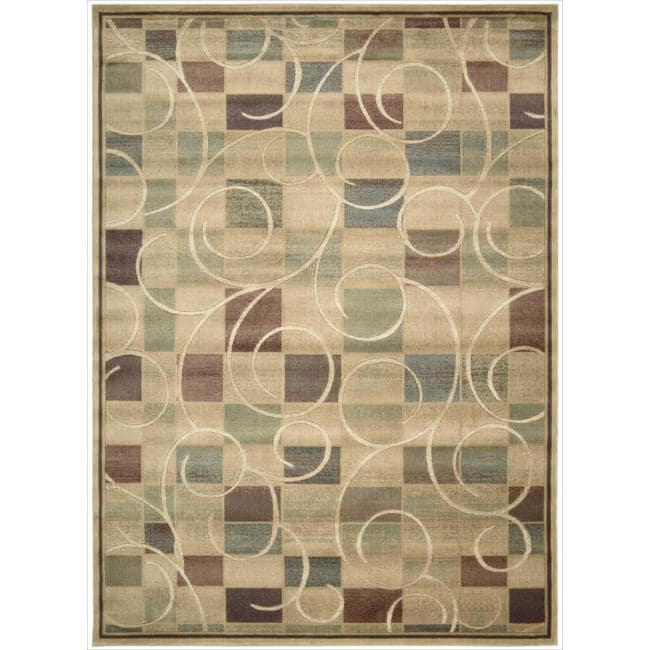 Nourison Expressions Block Beige Print Rug (9'6 x 13'6)
