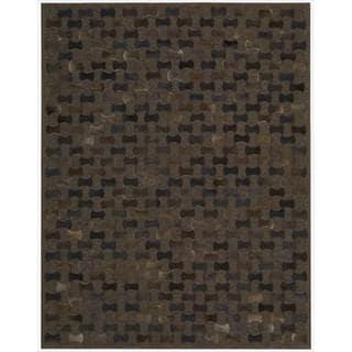 Nourison Joseph Abboud Hand-woven Chicago Chocolate Geometric Rug (8' x 11')