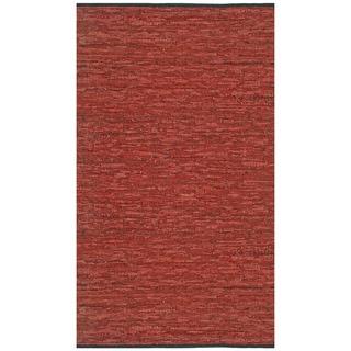 Hand-woven Matador Copper Leather Rug (9' x 12')