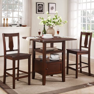 Laurel Dark Walnut 3-piece Bistro Counter Dining Set