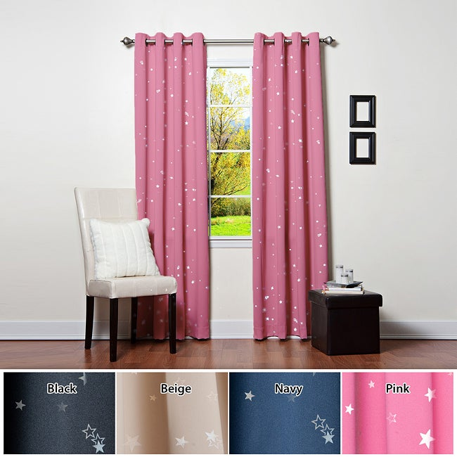 Star Struck Grommet Top 84-inch Thermal Insulated Blackout Curtain Pair
