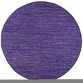 Hand-woven Matador Purple Leather Rug (6' Round)