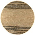 Hand-woven Matador Tan Leather Rug (8' Round)