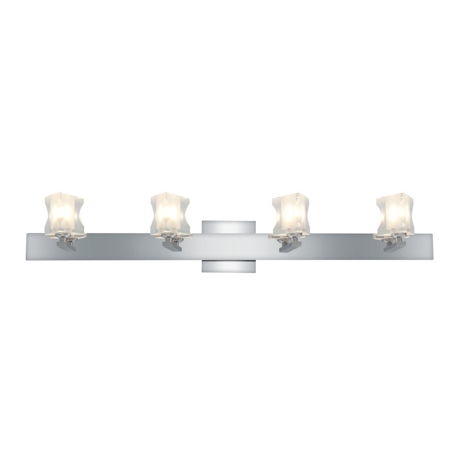 Access Glas'e 4-light Chrome Triangular Vanity Fixture
