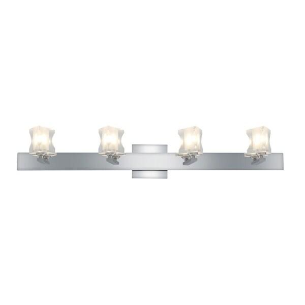 Access Glas'e 4-light Chrome Triangular Vanity Fixture