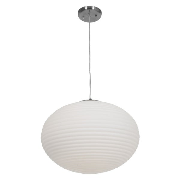 Access Callisto 3-light Brushed Steel Pendant