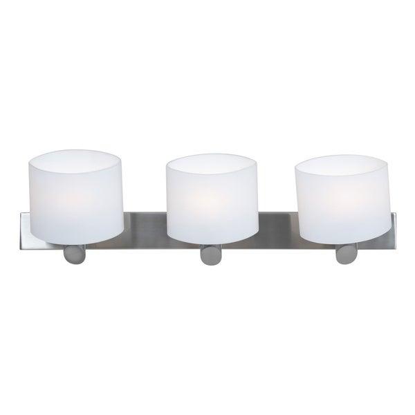 Access Vapor 3-light Brushed Steel Vanity Fixture