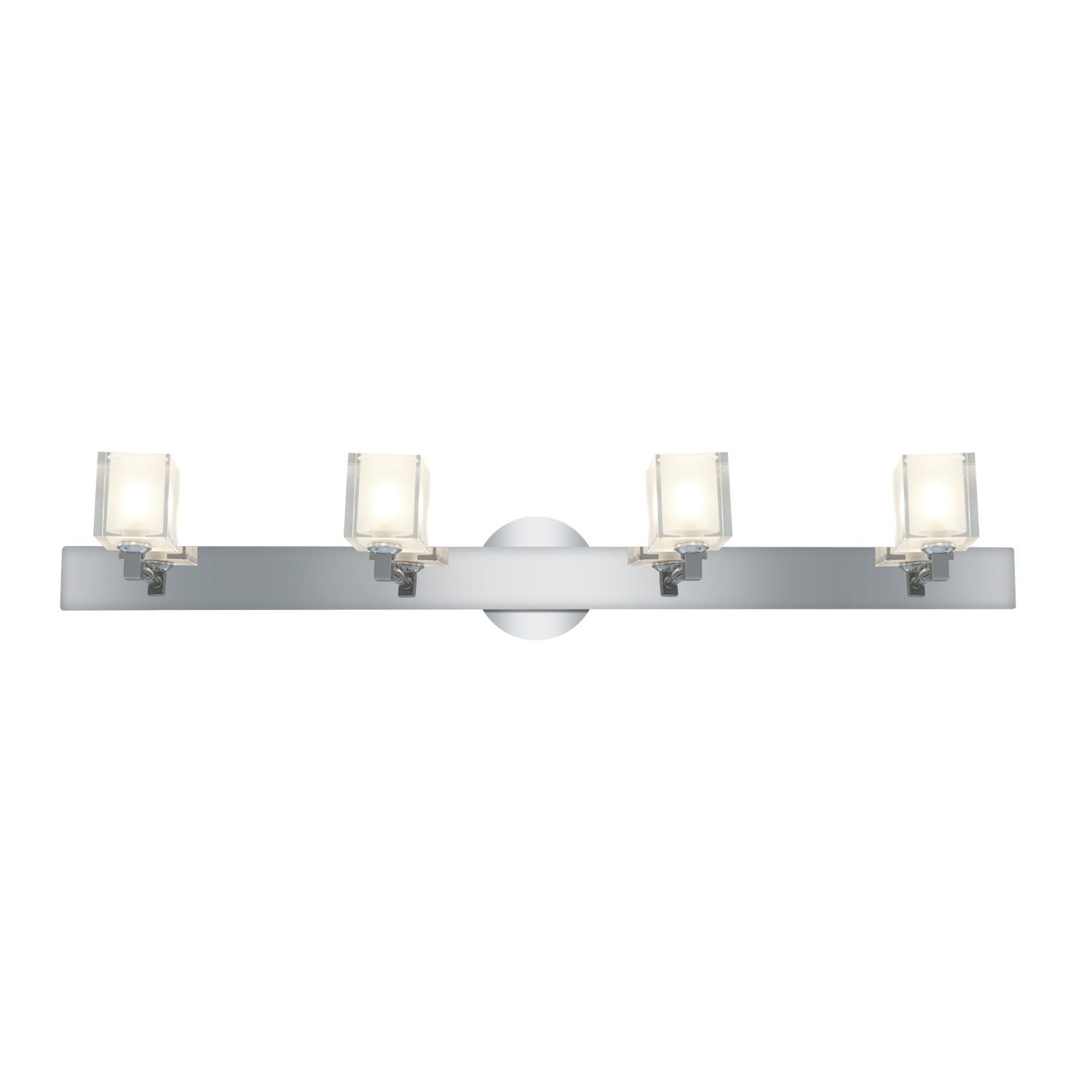 Access Glas'e 4-light Chrome Square Vanity Fixture