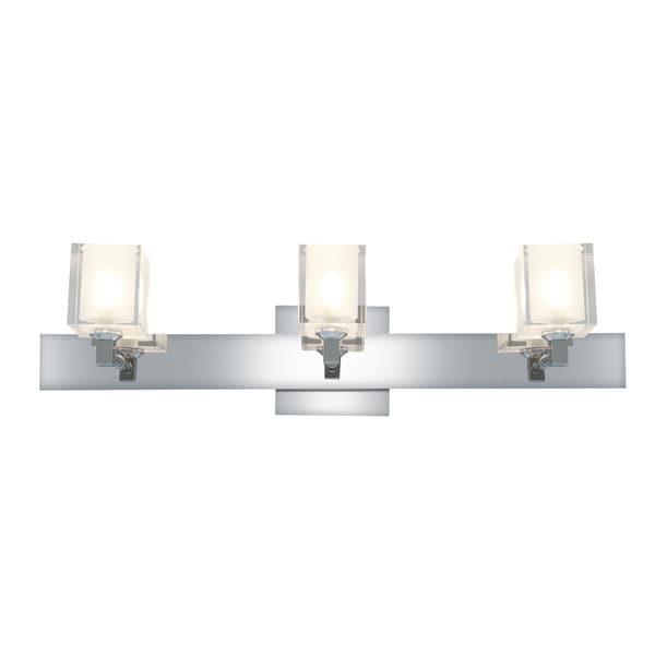 Access Glas'e 3-light Chrome Square Vanity Fixture