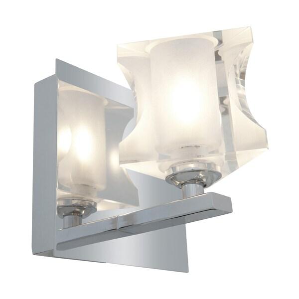 Access Glas'e 1-light Chrome Triangular Vanity Fixture