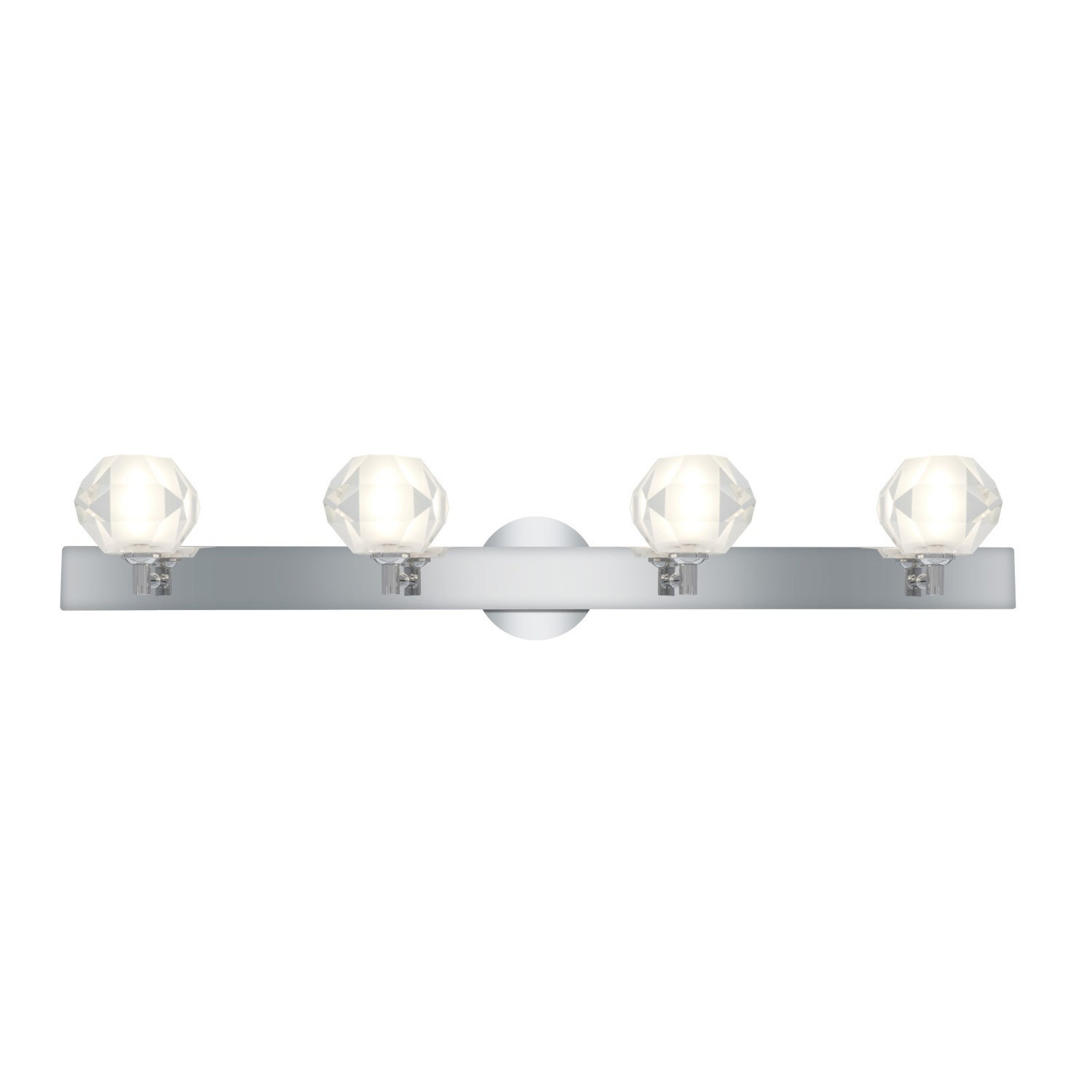 Access Glas'e 4-light Chrome Diamond Vanity Fixture