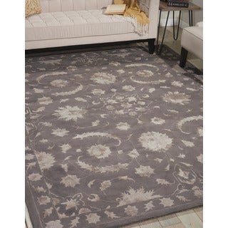 Nourison Hand-tufted Symphony Traditional Taupe Rug (8' x 11')