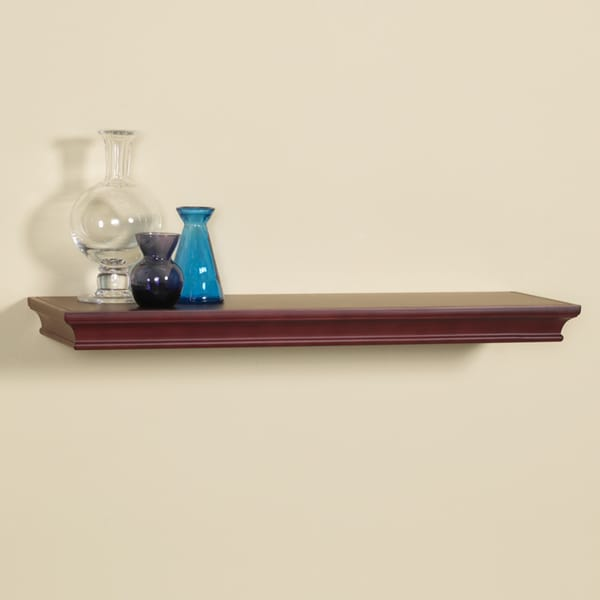 Kingston 48-inch Bracket-less Shelf Kit with Mahogany Finish