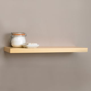 Square Edge 35.4-inch Bracket-less Shelf Kit with Light Oak Finish