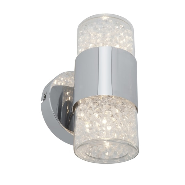 Access Kristal 2-light Chrome Up/Down Wall Sconce