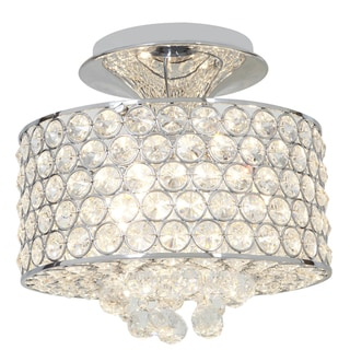 Access Kristal 4-light Chrome Semi-flush Drum Fixture
