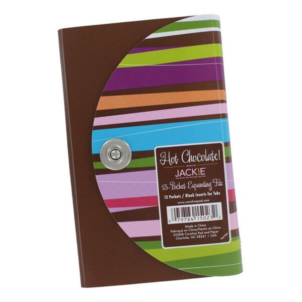 Jackie Hot Chocolate 13-pocket Expanding Coupon Organizer File