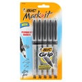Bic Mark It Black Ultra Fine Point Permanent Markers (Pack of 15)