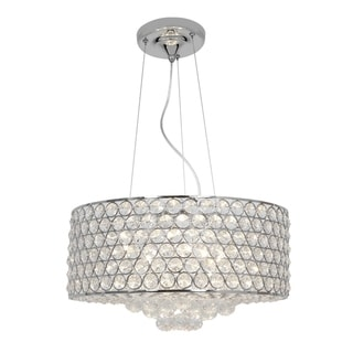 Access Kristal 6-light Chrome Drum Pendant
