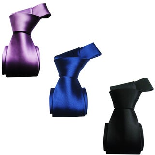 Dmitry Men's Italian Silk Solid Ties (Set of 3)