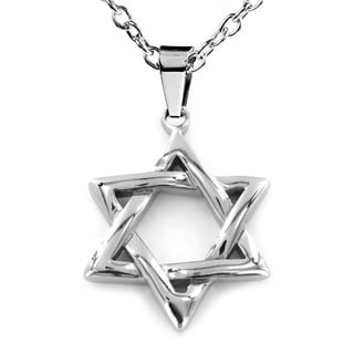 Stainless Steel 'Star of David' Pendant