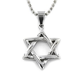 West Coast Jewelry Stainless Steel 'Star of David' Pendant