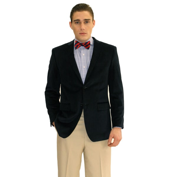 Ferrecci Men's Navy Velvet 2-button Jacket