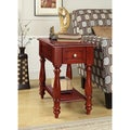 Cherry 1-drawer Hardwood Side Table
