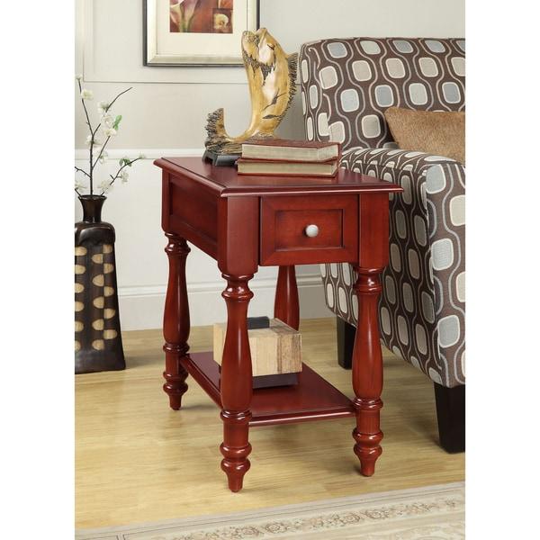 Cherry 1-drawer Hardwood Side Table