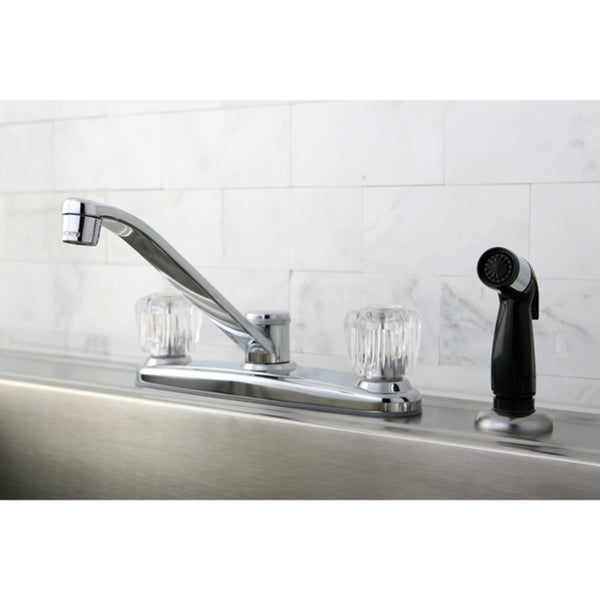Two-Handle Kitchen Side Sprayer Faucet