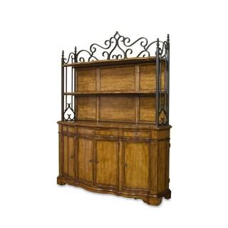 Metal Antique Wood Shelves Deck