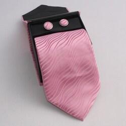 Ferrecci Men's 3-piece Pink Necktie Set