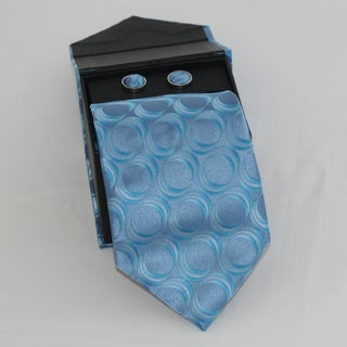 Ferrecci Men's 3-piece Blue Necktie Set