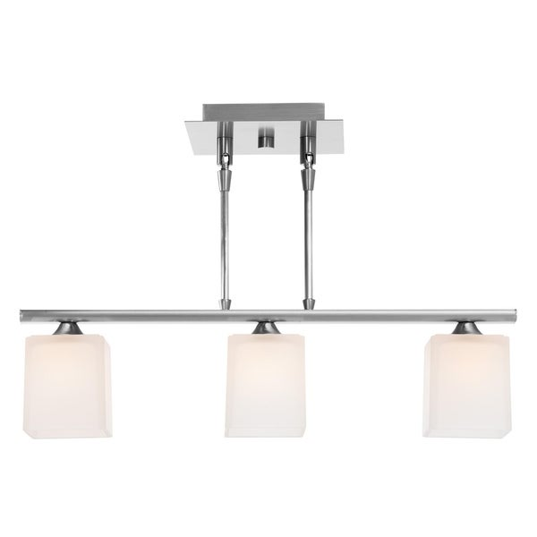 Access Hermes 3-light Brushed Steel Pendant