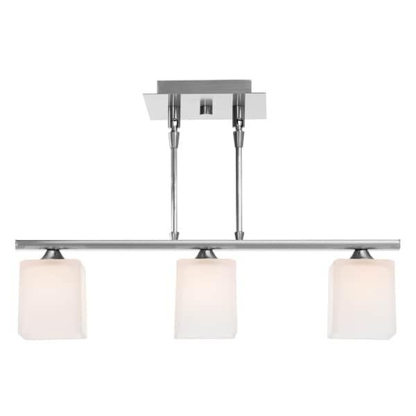Access Hermes 3-light Brushed Steel Pendant