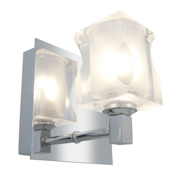 Access Glas'e 1-light Chrome Square Vanity Fixture